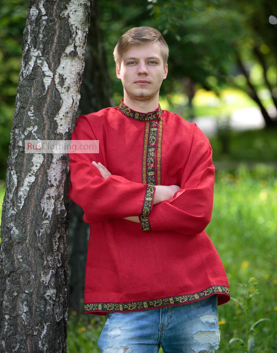 Russian shirt - Linen kosovorotka   RusClothing.com