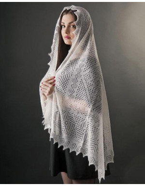 Web-like shawl ''Russian winter''