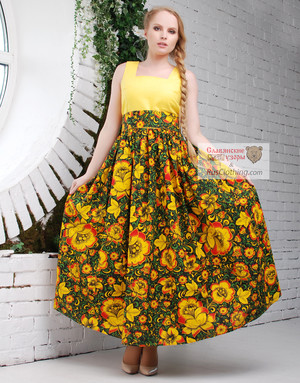 Khokhloma dress
