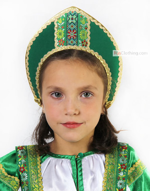 small cotton kokoshnik