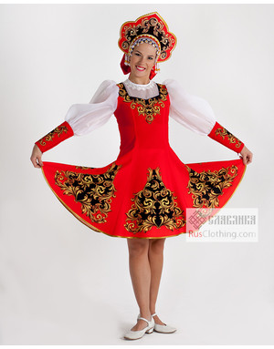 Traditional dance dress Russia