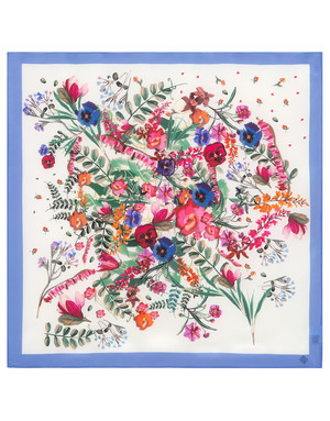 Silk scarf ''Favorite meadow''
