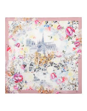 Silk scarf ''Sky Castle''