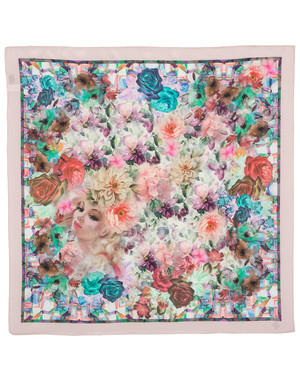 Silk scarf ''Flower Fairy''