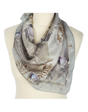Silk scarf ''Flowering''