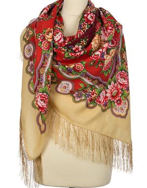 Wool shawl ''Southern sun''