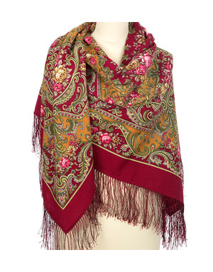 Wool shawl ''Autumn Romance''