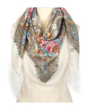 Wool shawl ''March''
