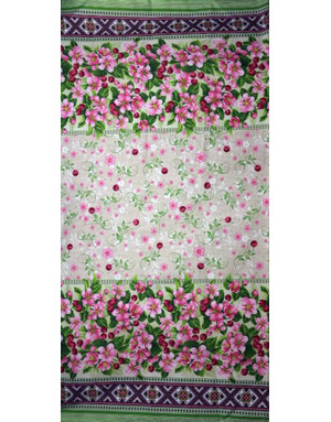 {[en]:Russian pattern cotton fabric Cherry blossoms}