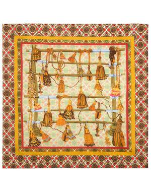 Cotton head scarf 'City ornaments''