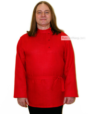 tolstoy shirt red