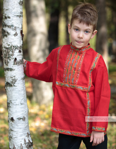russian cotton shirt