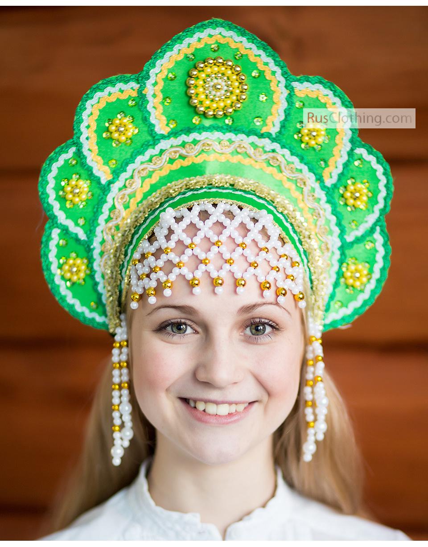 Как сделать красивый русский народный кокошник 5