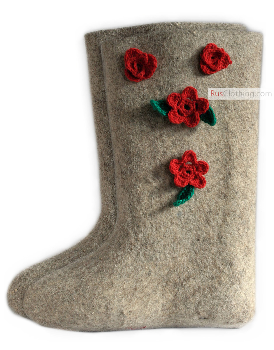 Valenki Russian Traditional Handmade Felt Home Boots 100% Wool Clothing, Shoes & Accessories Crafts Best Souvenir