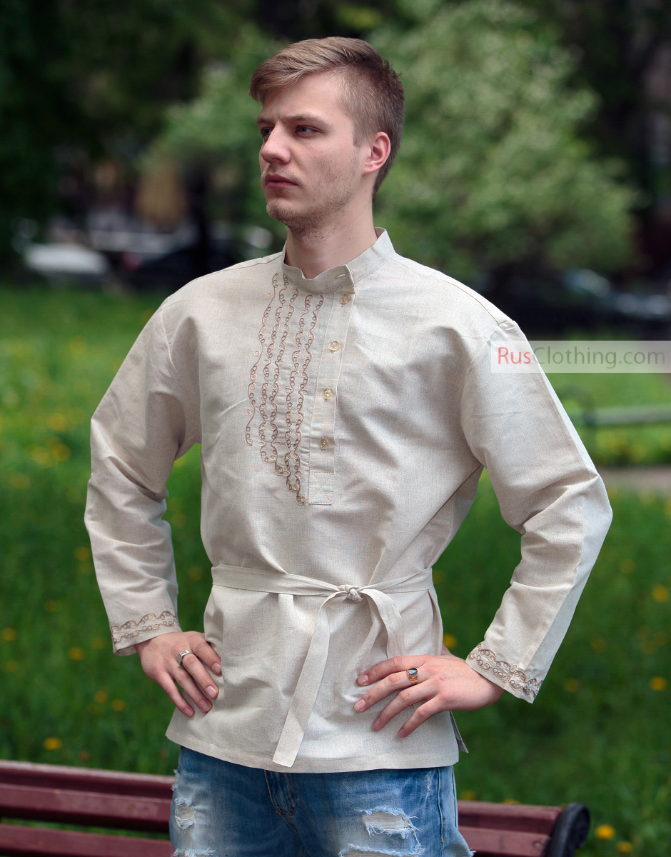 Russian Shirt Embroidered Rubakha Rusclothing Com