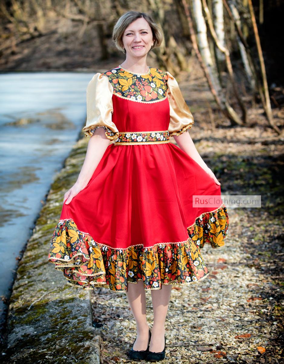 Russian dance costume u0026#39;u0026#39;Khokhlomau0026#39;u0026#39; | RusClothing.com