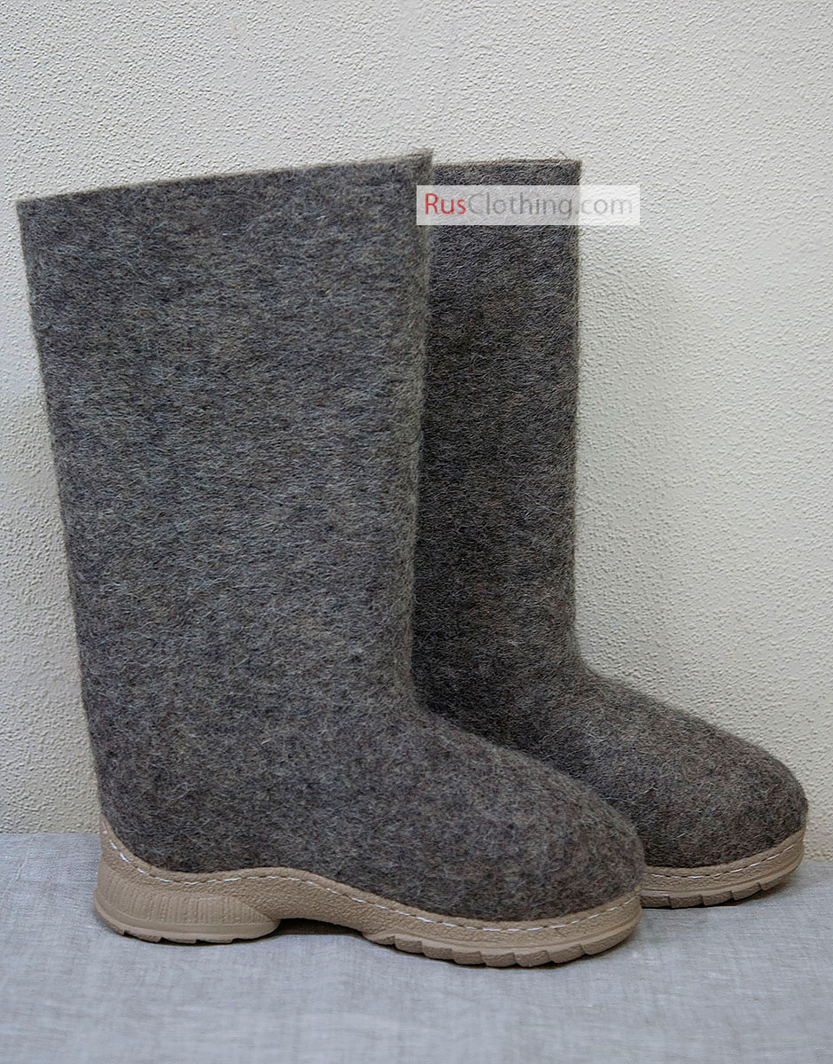 RUSSIAN traditional winter boots 100/% wool Felted Boots VALENKI