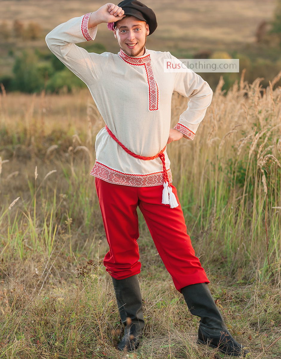 russian costume for men ivan  traditional wear