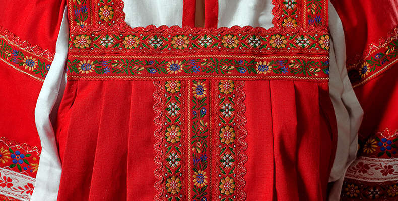 Russian cotton sarafan dress