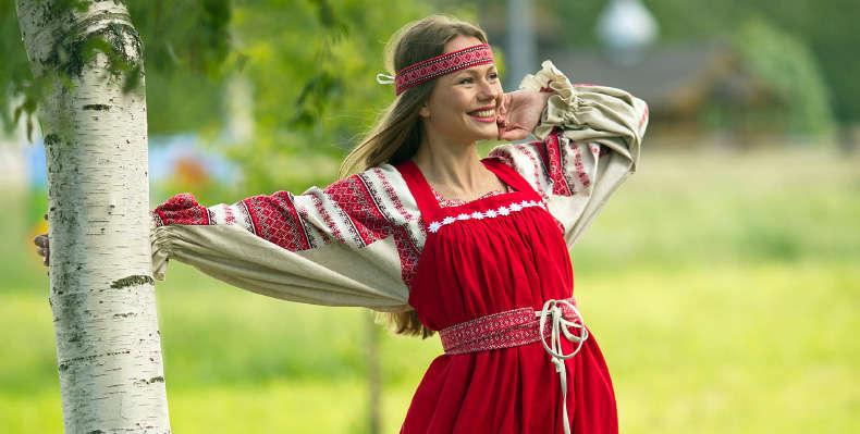 russian linen dresses
