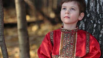 red silk shirt