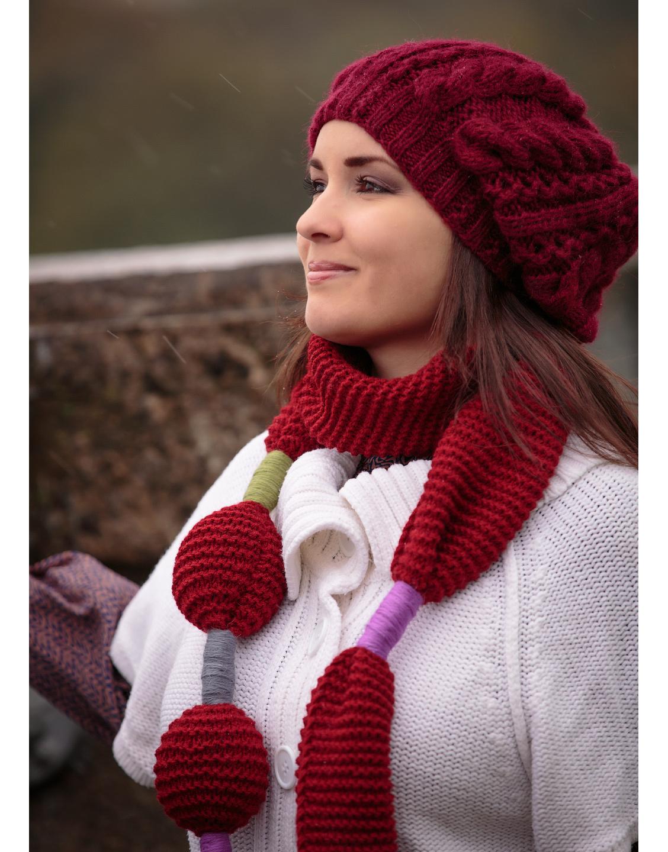 Beautiful hand knit beret  509ba3b3636