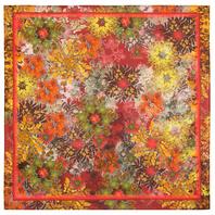 Cotton head scarf ''Flower mood''