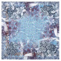 Cotton head scarf ''Mosaic''