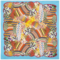 Cotton head scarf ''Indian Summer''