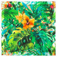 Cotton head scarf ''Jungle Flowers''