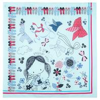 Cotton head scarf ''Bows Parade''