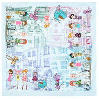 Cotton head scarf ''City Stories''