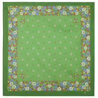 Cotton head scarf ''Camomiles''