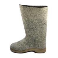 Russian Felt Boots Valenki Gray (Men size)