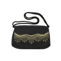 Small Black Evening Bag ''Sea''}