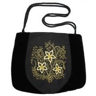 Black Evening Bag ''Narcissuses''}