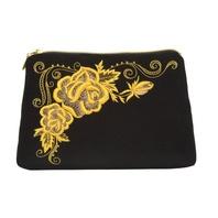 Gold Clutch Evening Bag ''Roses''}