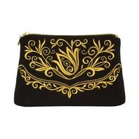 Gold Clutch Evening Bag ''Bird''}