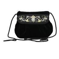 Black Evening Bag ''Bindweed''}