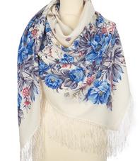 Wool shawl ''Morning garden''