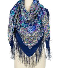 Wool shawl ''Caressing sun''