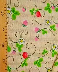 Ukrainian embroidery fabric ''Wild strawberry''
