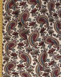 {[en]:Bohemian fabric by the yard Burgundy Oriental cucumbers}
