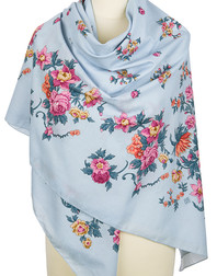 Cotton shawl ''Flower Necklace''