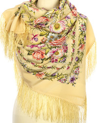Silk shawl ''Blossoming Spring''