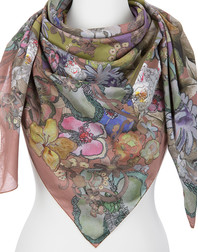 Cotton shawl ''Flower Symphony''