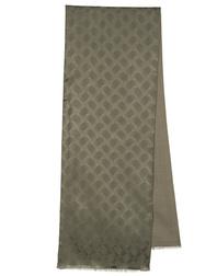 Men silk scarf witMen silk scarf with wool linen ''Rhombus''h wool linen ''Diamonds''