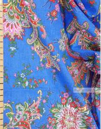 Tissu coton pasley au metre ''Paisley On Light Blue''}