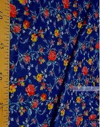 Tissu coton fleuri au metre ''Roses On Jeans''}