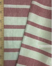 Tissu lin de Russie ''Red strips''